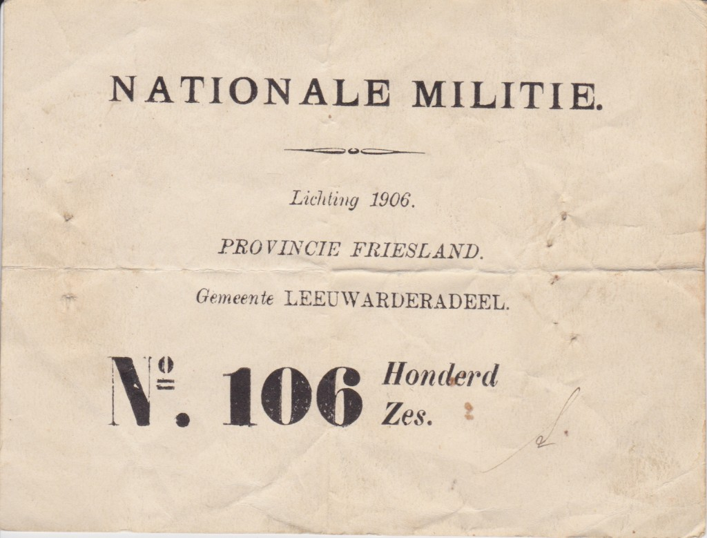 Lot Nationale Militie 1906